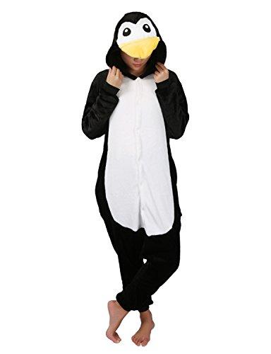 Tier Pyjamas Cosplay Kostüm -Karneval Schlafanzug Onesies Jumpsuit Erwachsene Unisex Kigurumi (Large, (Pinguin Kostüme)