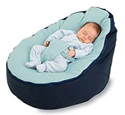 Bayb Brand Baby Bean Bag - Filled(Blue/Blue)