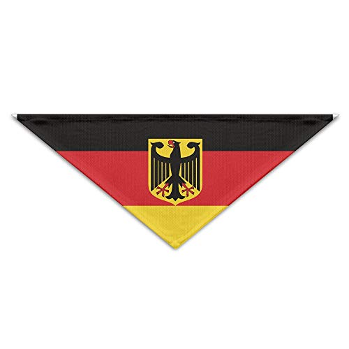 vintage cap Germany Federal Flag-01 Dog Bandana Triangle Bibs Scarfs Accessories for Pet Cats and Puppies - Federal Triangle