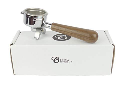 Ersatz-Siebträger für SAN MARCO-Espressomaschinen - Walnuss-Griff, 2 Ausläufe - 14 g Sieb - 2 Tassen