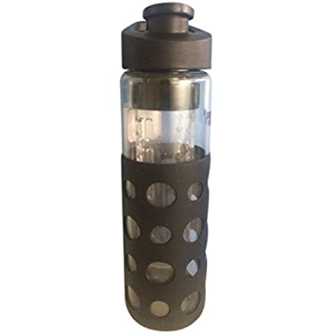 Revive H2O Sports cristal botella de agua con funda de silicona - 700 ml - BPA libre, con el Filtro - extraíble fruta Infusor