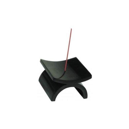 Eko supporto per bastoncini d'incenso,in pietra naturale nera