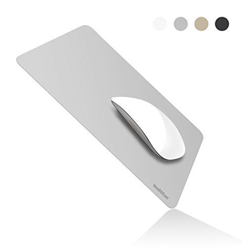 Preisvergleich Produktbild Gaming Mauspad, multifun Mousepad Wasserdicht Mausmatte Ultra Dünn Mouse Pad Rutschfest Mouse Mat, Schreibtischunterlage für Computer Büro Laptop, 26x20x0.04cm Silber