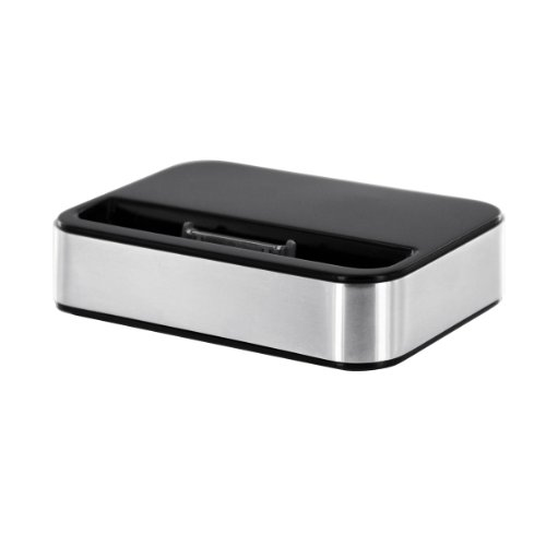 Artwizz Dock für iphone 4/4S: Tisch-Docking Station, aluminium/schwarz (Iphone Dock 4s Lautsprecher)