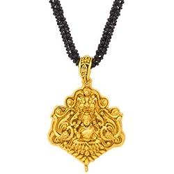 Voylla Religious Mangalsutra Engraved With Lakshmi Motif