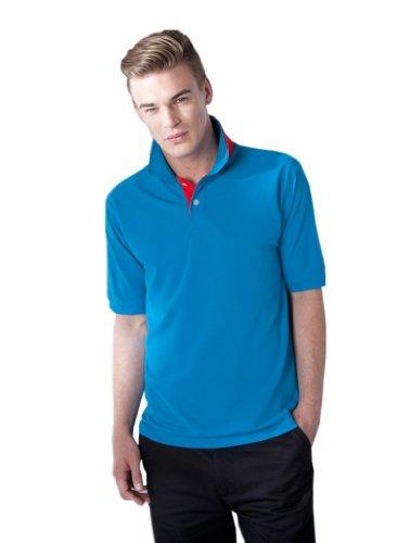 Trendiges Piqué Poloshirt in Kontrastfarben Black/Fuchsia
