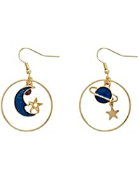 32ba0ca4b37e Eudola Pendientes Pendientes Mujer Joyas para Mujer Pendientes de Moda  Pendientes Simples Pendientes de Estrella de Luna Simples…