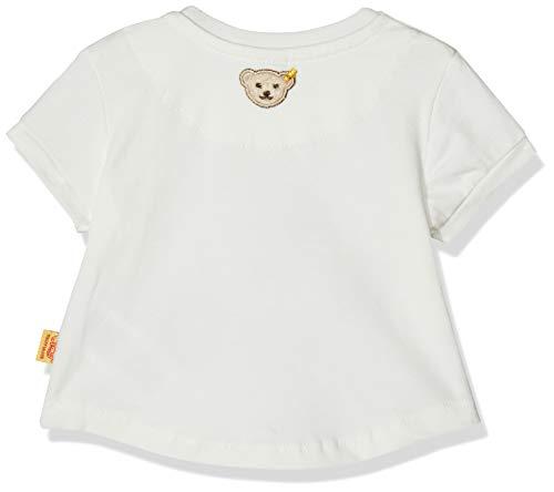 Steiff Baby-Mädchen 1/4 Arm T-Shirt, Weiß (Cloud Dancer White 1610), 80 - Dancer Kinder-t-shirt