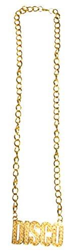 erdbeerclown - Kostüm Accessoire- 80er- 90er Jahre- Disco Gold Kette, Erwachsenen Kostümschmuck,, Gold (80er-jahre-rose)