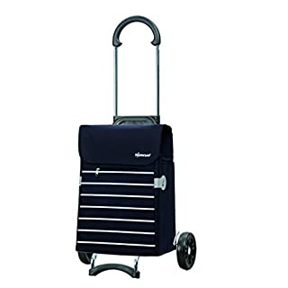 Andersen Shopping trolley Scala with bag Lini blue, Volume 34L, steel frame