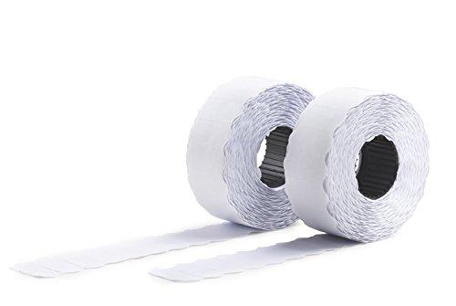 Avery Boîte de 10 rouleaux de 1500 Etiquettes Autocollantes Amovibles pour Etiqueteuse 1 ligne - 26x12mm - Blanc (PLR1226)