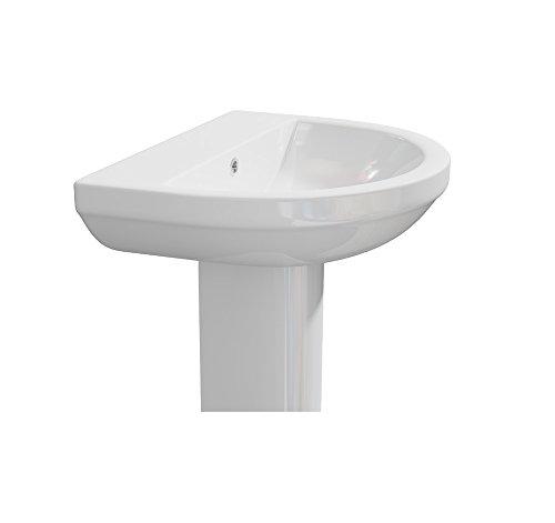 Kartell Code Keramik Semi/Full Ständer mit Becken 550mm, keramik, 550mm Semi Pedestal (Semi Pedestal)