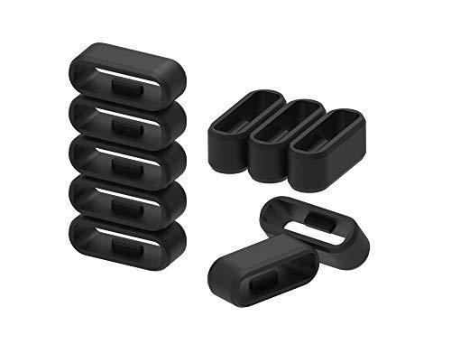 Chofit Loop Compatibile con Garmin Vívosport/Approach X10 / X40 Security Holder, Sicurezza Anelli di Fissaggio sostitutivi Gomma Guardia Cinturino Keeper Strap Fermo Anello