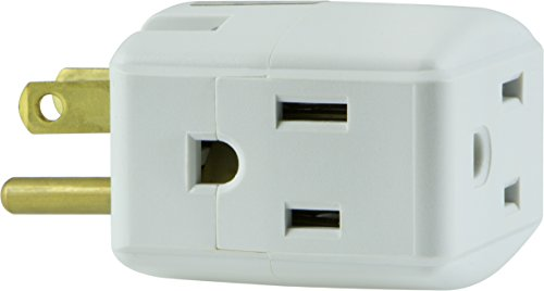 GE Grounded 3-Outlet Tap, 58368 by GE