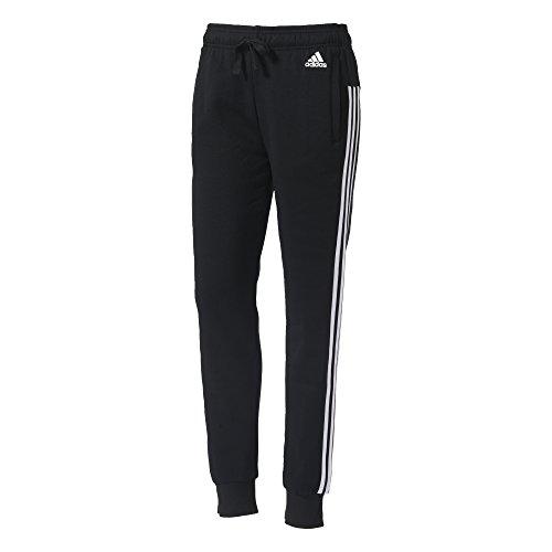 adidas S97109 Pantalón de Chándal, Mujer, Negro / Blanco, SL