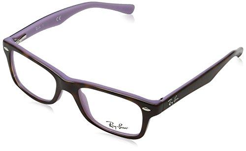 Ray-Ban Rayban Unisex-Kinder Brillengestelle 0RY 1531 3700 46, Braun (Topo Havana On Violet)