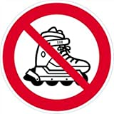 Aufkleber Verbotsschilder Inlineskating verboten 10cm Ø