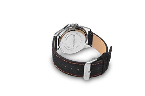 Sekonda-Mens-Quartz-Watch-with-White-Dial-Analogue-Display-and-Black-Fabric-Strap-111827