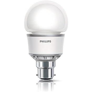 25 Year Life Philips My Vision LED 5w Light Bulb BC B22 Bayonet Cap Warm White 2700k GLS Standard Shape Instant Low Energy Saving 250 Lumen Lamps L.E.D.