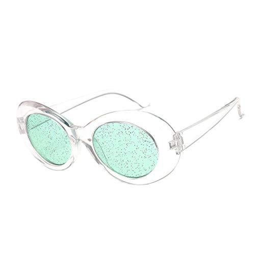 Idyandyans Frauen Glitzer-Objektive Oval Sonnenbrillen Süßigkeit-Farben-transparente Rahmen UV400 Shades Brillen Sequin Sonnenbrillen