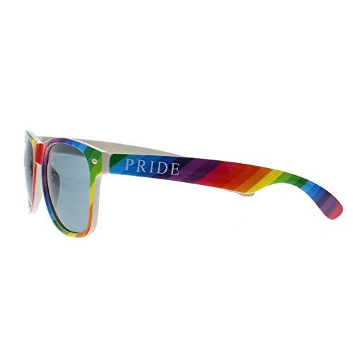 Schwuler Kostüm - B-Creative LGBTQ Sonnenbrille, Regenbogenfarben, UV400, für Partys, Schwulen, Kostüme
