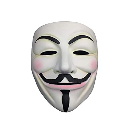 HMEI Halloween Horror Kostüm, Clown Maske Cosplay Requisiten Geschenke Unisex - Erwachsene, Single Size (Farbe : Metallic)