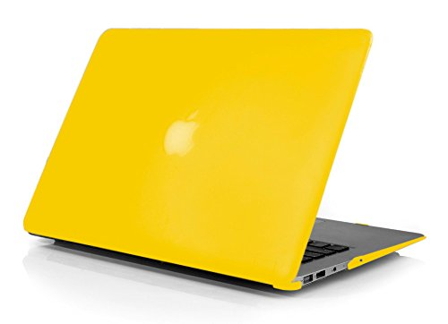 PINDIA YELLOW MATTE FINISH APPLE MACBOOK PRO, RETINA, AIR MODEL HARD CASE SHELL COVER