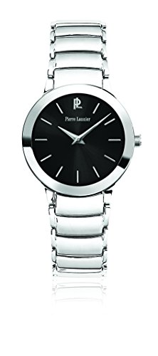 Pierre Lannier Week-End Ligne Pure Women's Analogue Watch with Black Dial Analogue Display and Stainless steel plated gun metal - 093K631