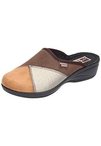 Manitu-Home Damen-Pantolette braun 330129-2