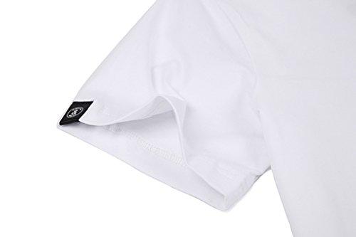 Pizoff Unisex Schmale Passform Baumwolle T Shirts mit 3D Digital Print Muster Y1780-12