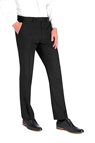 Smart Classic Men's Formal Plain Fron Busines Office Suti Trousers [Slim/Skinney/Regular Fit] [ 3 Colors ]