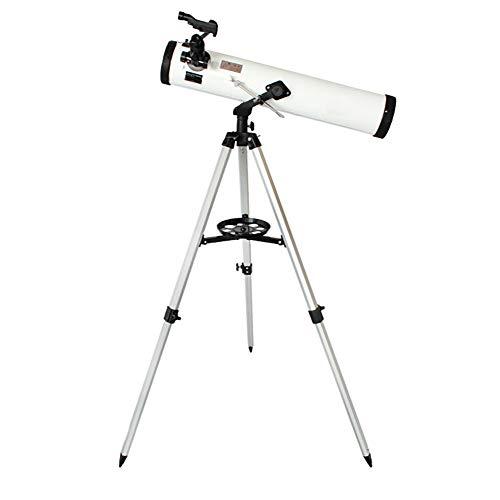 QQLK Telescopio AstronóMico 76/700 Telescopios Reflectores Lente Y TríPode De Paisaje AstronóMico PortáTil: Ideal para Principiantes En AstronomíA para Observar Estrellas