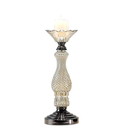 Chandeliers Bougeoir Verre de support de bougie, chandelier romantique d'intérieur/lumières de thé (taille : S)