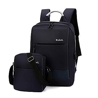 DXCSAA Studententasche mit großer Kapazität, wasserdichter und strapazierfähiger USB-Rucksack, 15,6 Zoll Laptop-Rucksack, blau, 15,6 Zoll