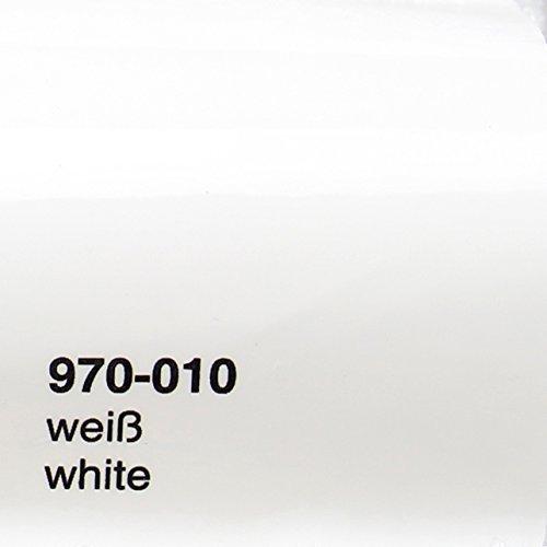 Oracal 970RA 010 Glanz Weiß gegossene Profi Autofolie 152cm breit BLASENFREI mit Luftkanäle