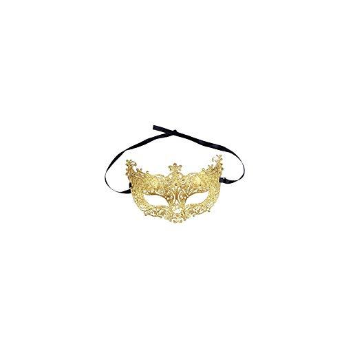YaptheS Kostüm-Partei-Augenmaske venetianische Maskerade Frauen Maske für Partei-Kostüm Weihnachten Holloween Gold-