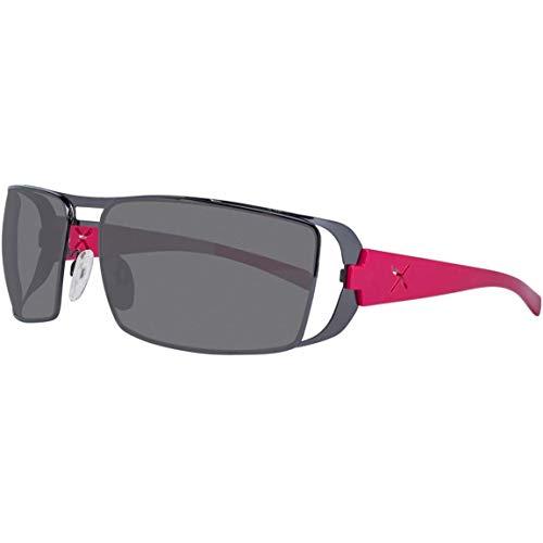esigner Sonnenbrille, Platin - Pink mit schwarzen Gläsern ()