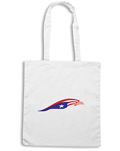 T-Shirtshock - Borsa Shopping TM0228 Puerto Rico Flag for Truck and car flag Bianco