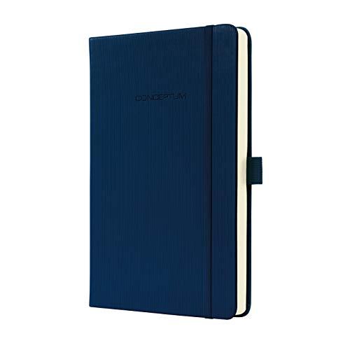 Weiche Hand Mit Tinte (Sigel CO567 Notizbuch, ca. A5, kariert, Hardcover, dunkelblau, CONCEPTUM - viele Modelle)