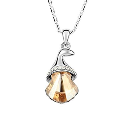 Daesar Schmuck Damenkette Vergoldet Schale Luft Chimes Synthetische Kristall Halskette Zirkonia Halskette (Kostüm Vampir Mädchen Tumblr)