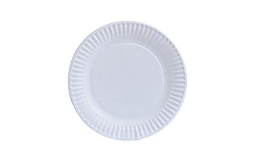 Teller 9-100Pappteller, 22,9cm weiß (100Stück) ()
