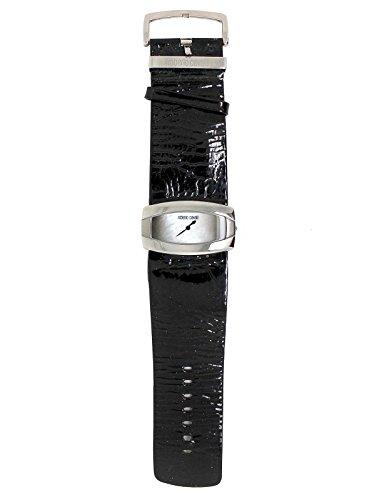 Roberto Cavalli 7251110015N Women's Leather Watch Paint Effect grinza Black