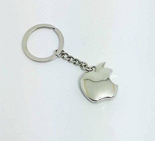 eShop24x7 APPLE Chrome Plated Steel Imported Logo key chain / key ring / keychain / keyring / fob
