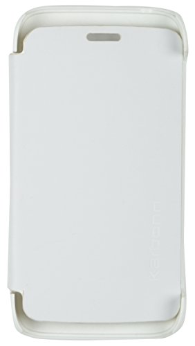 iCandy™ Synthetic Leather Flip Cover For Karbonn Titanium S1 Plus - WHITE  available at amazon for Rs.190