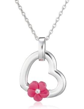 Esprit Kinderkette 925 Sterlingsilber 34-37cm flower heart pink ESNL91670B320