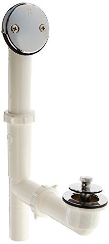 Keeney 62aw Lift 'N Turn Stil Badewanne Abfluss Kit mit Poly Tubing, chrom Turn-stopper