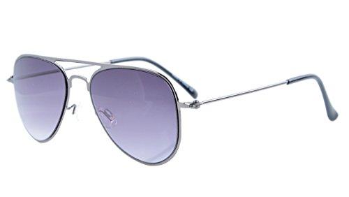 Eyekepper 3-10 Jahre alte Kinder Flieger-Sonnenbrille Gunmetal Rahmen-Grau Linsen