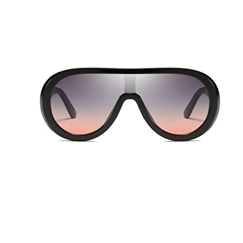 Morran Vintage Polarisiert Sonnenbrillen Übergroße Sonnenbrille für Damen und Herren Unzerbrechlich Oversized Frame Fashion Sunglasses