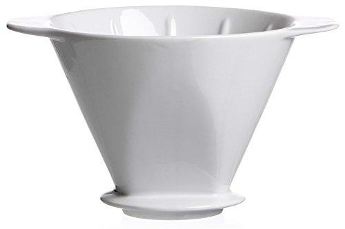 Ritzenhoff & Breker Porzellan Kaffeefilter Rio, Weiß, für Filtertüten der Größe 4, 14,5 x 14,5 x 11 cm