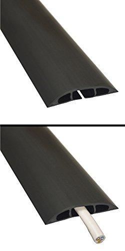 Cachez et Prot/égez Les C/âbles et /Évitez Les Risques Noir /&  Basics C/âble r/éseau Ethernet RJ45 cat/égorie/6-4,2 m 60mm x 12mm D-Line Passe C/âble Sol D/'Usage L/éger  CC-1 Longeur 1,8m